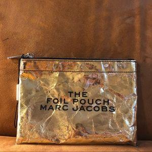 Marc Jacobs Gold Foil Pouch Clutch ✨